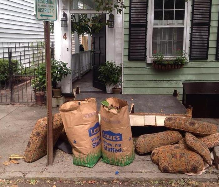 Downtown Charleston Home- Debris at Street