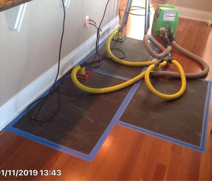 Water Damage Hardwood Floor Drying system